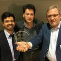 """Pavol Bauer, Gautham Ram and Menno Kardolus awarded """"Most Significant Innovation in Electric Vehicles"""" prize"""