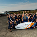 Students from TU Delft and VU Amsterdam present recumbent bike they hope will go faster than 121.8 km/h