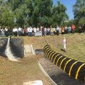 Flood barrier testing in Romania