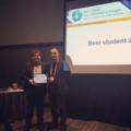 Gianluca Limodio won the Best Student Award at the symposium 'Silicon for Photovoltaics'