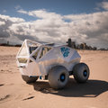 Beach robot on the move during World Cleanup Day