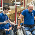 First steps with new exoskeleton for paraplegics built by TU Delft students