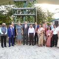 Koningspaar opent verticale afvalwaterzuiveringspilot in New Delhi